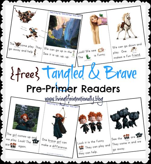 Free Tangled & Brave Pre-Primer Readers