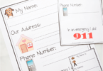 Learn My Name & Address Printables