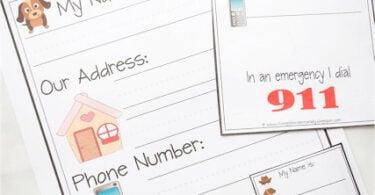 Learn My Name & Address Printables