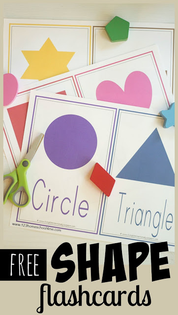 These shape flashcards and shape wall cards are perfect for not only teaching toddler, preschool, pre-k, and kindergarten age chidlren their shapes, but also to be used on shape scavenger hunts and other fun hands on shape activities for kids. Simply download pdf file withfree printable shape flashcards and you are ready to play and learn!