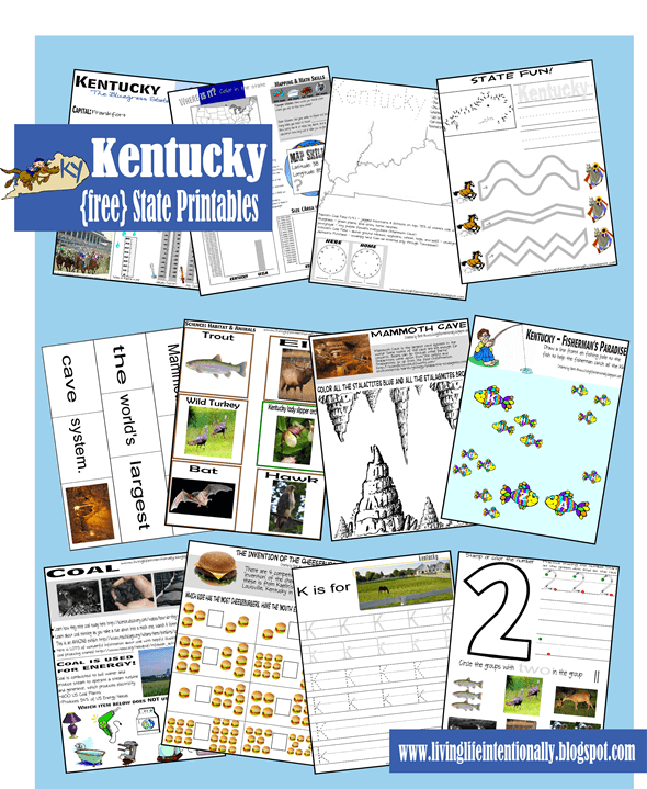 Kentucky Worksheets for Kids