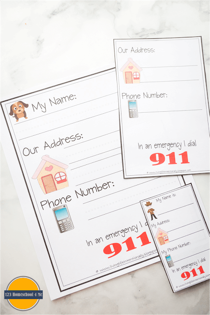 Does your child know their name, address, and phone number? It is very important that kids learn this important safety information as early as possible. Here are some free learn my name printables to help you teach your preschool and kindergarten child their name and where they live.