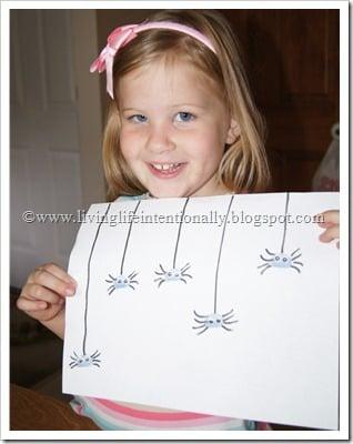 Finger Art Spider Craft for Kids
