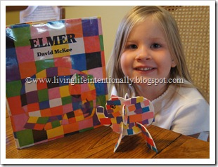 Elmer preschool craft for kids