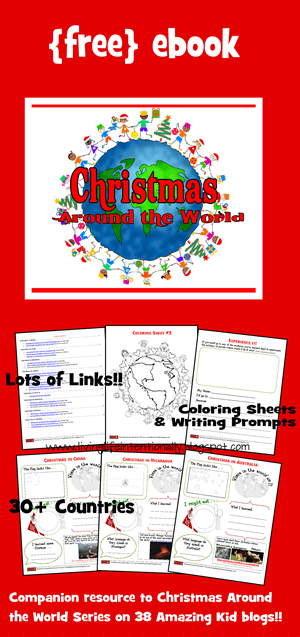 FREE Christmas Around the World Worksheets - Christmas Around the World activities including crafts, free worksheets and more for preschool, Kindergarten and elementary age kids #christmas #christmasaroundtheworld #christmasactivities