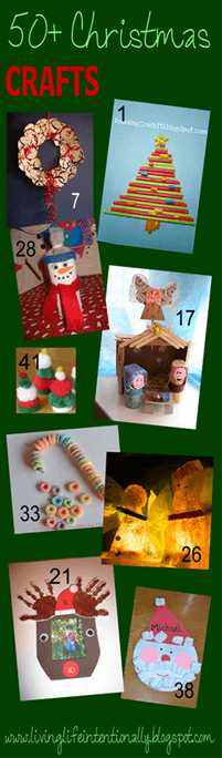 50 Christmas Crafts for Kids - so many fun, unique, and easy Christmas crafts for kids!