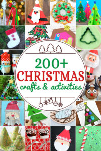 There are more than 200 Christmas crafts for kids and kids Christmas activities on this list to try, so you are sure to have a fun holiday season as you try all these fun kids activities for December. Because there are so many, we have grouped them by type: Christmas sensory, Reindeer, Snowman, Santa, Nativity, Christmas tree, Christmas Snacks, Christmas ornaments for kids to make, and educational Christmas activities. This truly is your one-stop-shop for Christmas Craft ideas for kids from toddler, preschool, pre-k, kindergarten, first grade, 2nd grade, 3rd grade, and families.