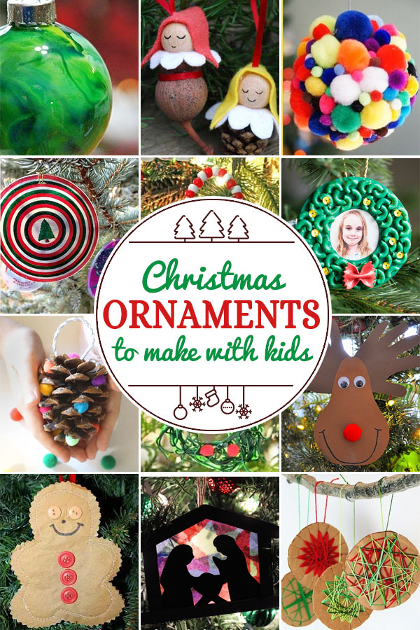 Christmas Ornaments for Kids to Make including 200+ christmas craft and activities for kids including holiday craft ideas for December, Ornaments for kids to make, christmas math, christmas science, christmas literacy, Christmas sensory and free Christmas printables too! (themes such as santa, nativity, christmas tree, snowman, and more!)