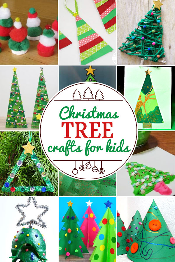 Christmas Tree Crafts for Kids including 200+ christmas craft and activities for kids including holiday craft ideas for December, Ornaments for kids to make, christmas math, christmas science, christmas literacy, Christmas sensory and free Christmas printables too! (themes such as santa, nativity, christmas tree, snowman, and more!)