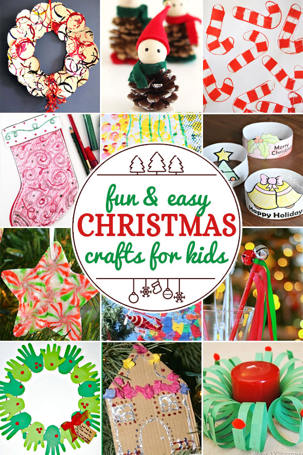 Fun Christmas Crafts including 200+ christmas craft and activities for kids including holiday craft ideas for December, Ornaments for kids to make, christmas math, christmas science, christmas literacy, Christmas sensory and free Christmas printables too! (themes such as santa, nativity, christmas tree, snowman, and more!)