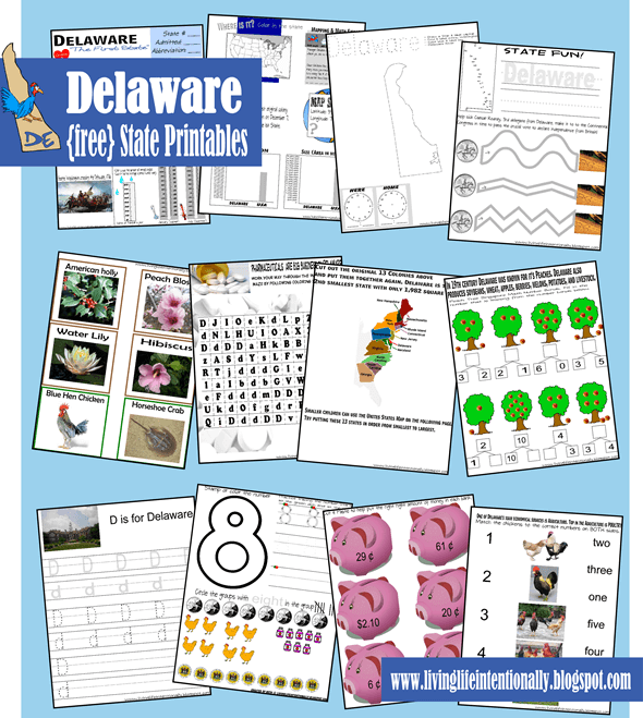 Grab your {free} Delaware State Printables by clicking on the image below.