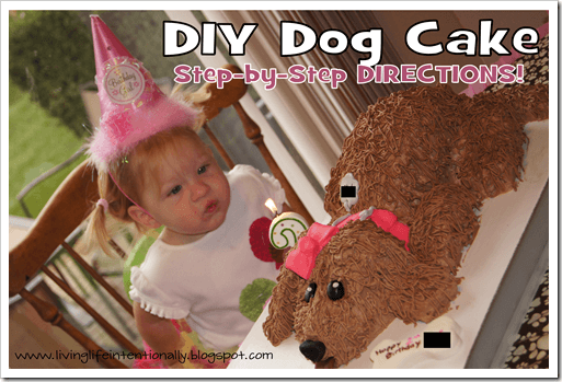 step-by-step directions for making a dog cake #birthdays