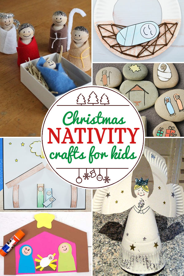 Nativity Christmas Crafts for Kids including 200+ christmas craft and activities for kids including holiday craft ideas for December, Ornaments for kids to make, christmas math, christmas science, christmas literacy, Christmas sensory and free Christmas printables too! (themes such as santa, nativity, christmas tree, snowman, and more!)