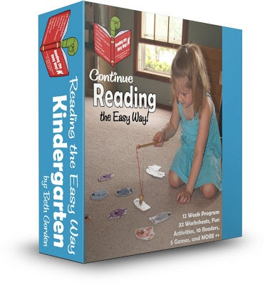 Kids will have fun learning to read with Reading the Easy Way Kindergarten! This reading program allows kindegartners to master dolch sight words so they can become fluent reading these words that make up 75% of written words. REading the Easy Way 2 includes sight word worksheets, fun sight word games, printable sight word readers, and so much more!