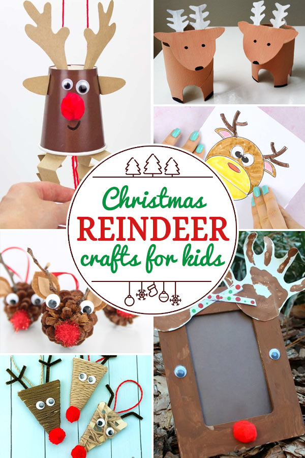 Reindeer Crafts for Kids including 200+ christmas craft and activities for kids including holiday craft ideas for December, Ornaments for kids to make, christmas math, christmas science, christmas literacy, Christmas sensory and free Christmas printables too! (themes such as santa, nativity, christmas tree, snowman, and more!)