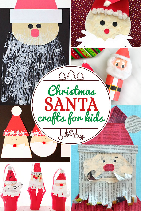 Santa Crafts for Kids including 200+ christmas craft and activities for kids including holiday craft ideas for December, Ornaments for kids to make, christmas math, christmas science, christmas literacy, Christmas sensory and free Christmas printables too! (themes such as santa, nativity, christmas tree, snowman, and more!)