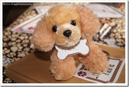 Super cute stuffed animal puppies for kids to adopt as a birthday party game