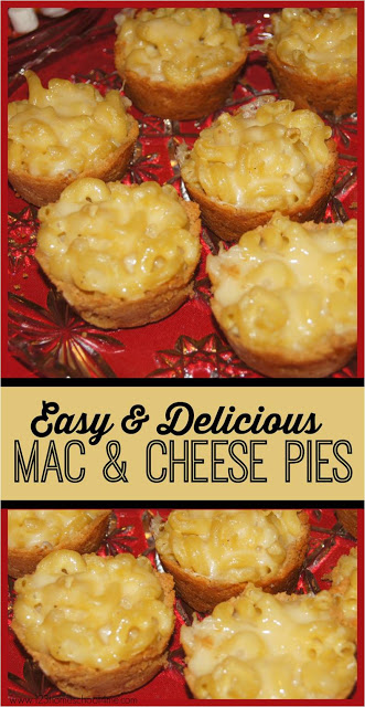 YUM! This is such a fun, delicious spin on a mac and cheese recipe! It is still creamy and yummy, but made into easy pies, individual servings that kids will love. Plus it keeps all the deep flavor that grown-ups will LOVE! Best family favorite mac and cheese recipe