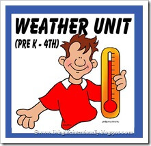 Science - FREE weather unit for PreK-4th Grade #weather #preschool #kindergarten #science