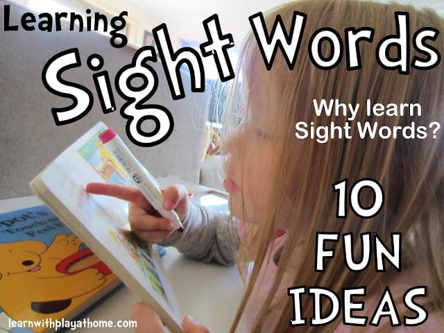 sight words, literacy activity, kids activity