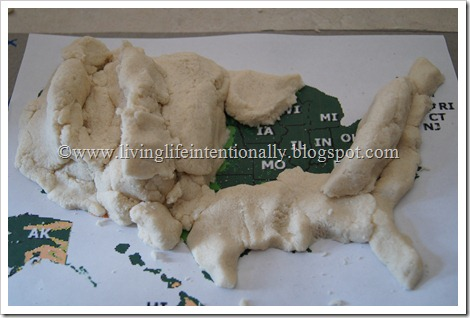 salt dough us map