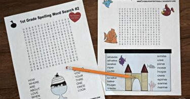 1st Grade Spelling Word SEARCHES