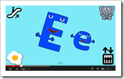new ABC song showing both upper/lower case letters & things that start with that letter