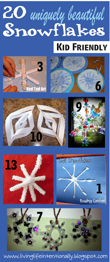20 uniquely beautiful snowflake projects for kids
