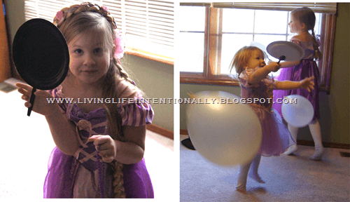 Tangled Party Game with DIY Frying Pans