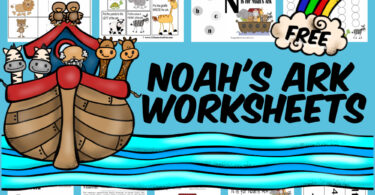 Kids will have fun practicing alphabet letter N, numbers, counting, skip counting by 2s, shapes and more with these noah's ark worksheet,  The noah and the ark worksheets are perfect for toddler, preschool, pre-k, and kindergarten age students and include clipart of Noah, the ark, and lots of cute animals from lions to turtles, panda to zebrra, giraffee to elephants, and more! Simply download pdf file with free noah's ark printables and you are ready to play and learn!