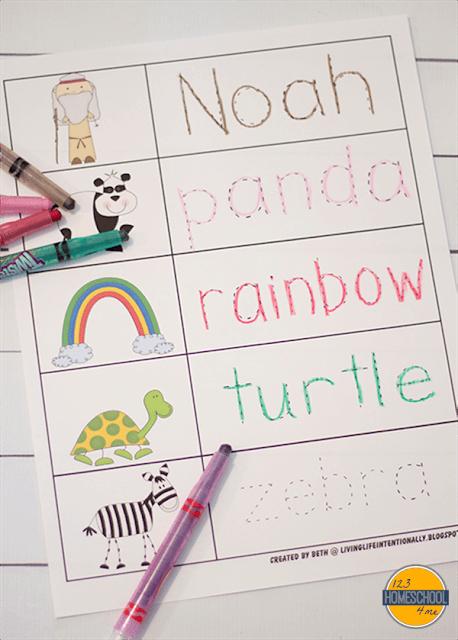 noahs ark preschool worksheets