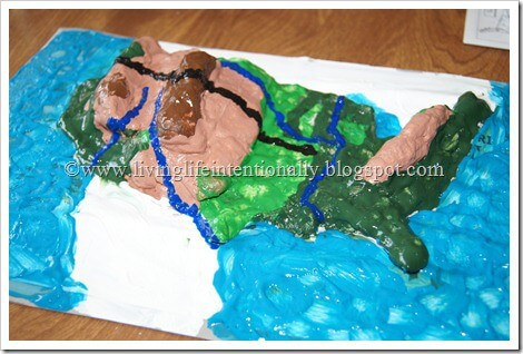 hands on geography project with easy to make salt dough map