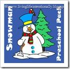 snowman preschool pack blog image