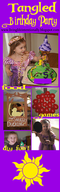 Tangled Birthday Party - super cute birthday party theme for kids who love rapunzel. Lots of clever ideas for birthday games, diy decorations, birthday cake, an dmore for preschool, kindergarten, and first grade kids #birthdays #birthdayparthy #tangled