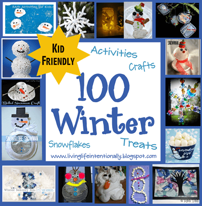 100 Winter Crafts for Kids plus winter activities, and Winter Snacks for Kids - so many clever ideas for toddler, preschool, kindergarten, and family fun #wintercrafts #winteractivities #preschool
