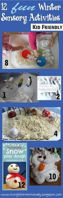 12 FUN Winter Sensory Activities for Preschoolers and Toddlers