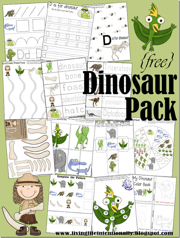 FREE Dinosaur Printables make learning math and literacy fun for Toddler, Preschool, Kindergarten, first grade, 2nd grade kids. These dinosaur worksheets are NO PREP! #preschool #kindergarten #dinosaur