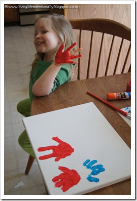 hand art project for kids