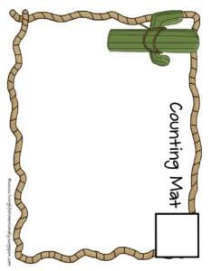 cactus desert counting mat