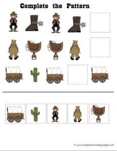 cut and paste cowboy patterns