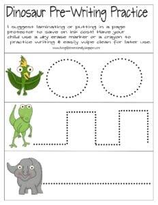 dinosaur worksheets for preschool