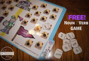 FREE Marshmallow Incident Noun Verb Game
