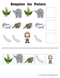 free printable dinosaur worksheets for preschoolers