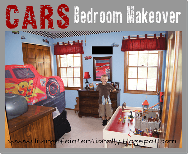 Cars Bedroom Makeover