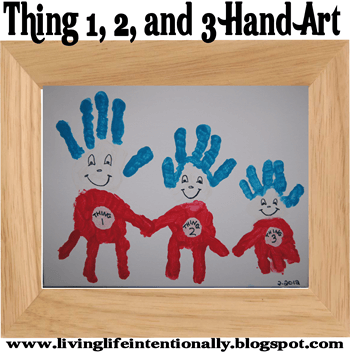 Dr Seuss Craft of Thing 1,2,and 3