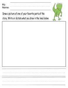 kindergarten dinosaur worksheets