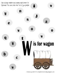letter w worksheets