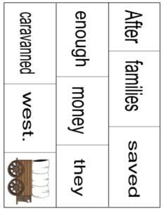 sentence scrambles