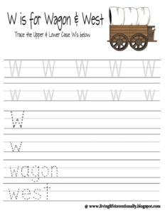 tracing letter w worksheet