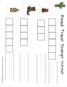 western read write trace and stamp worksheet
